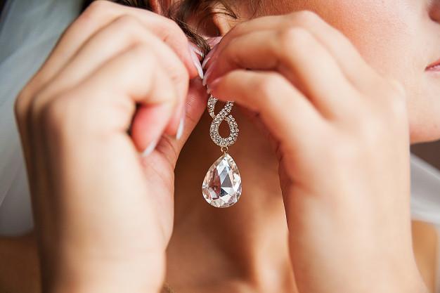 flotte øreringe med diamanter